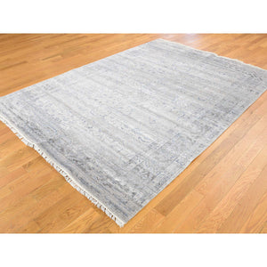 "5'10""x8'1"" Wool and Silk Agra Broken Design Hand-Knotted Oriental Rug FWR240030"