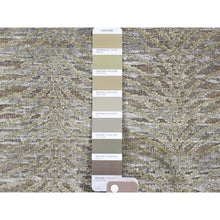 Load image into Gallery viewer, 9'x12' Real Silk with Textured Wool Tone on Tone Hand-Knotted Oriental Rug FWR243546