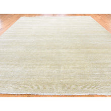 "Load image into Gallery viewer, 10'1""x14' Hand-Knotted Wool and Silk Grass Design Oriental Rug FWR244524"