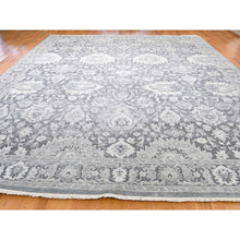 "Load image into Gallery viewer, 11'10""x14'10"" Hand-Knotted Oushak Influence Silk with Textured Wool Oversized Oriental Rug FWR244686"