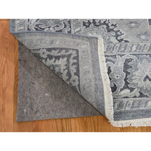 "11'10""x14'10"" Hand-Knotted Oushak Influence Silk with Textured Wool Oversized Oriental Rug FWR244686"