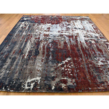 "Load image into Gallery viewer, 8'x9'8"" Hand-Knotted Wool And Silk Abstract Design Oriental Rug FWR244776"