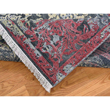 "Load image into Gallery viewer, 8'1""x10' Hand-Knotted Broken Design Silk with Textured Wool Transitional Rug FWR245130"