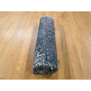 "8'1""x10' Hand-Knotted Broken Design Silk with Textured Wool Transitional Rug FWR245130"