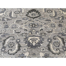 "Load image into Gallery viewer, 8'1""x10'3"" Natural Colors Mahal Design Grey Peshawar Hand-Knotted Oriental Rug FWR245730"