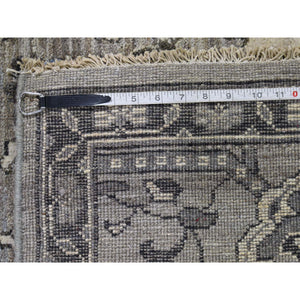"8'1""x10'3"" Natural Colors Mahal Design Grey Peshawar Hand-Knotted Oriental Rug FWR245730"