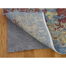 "Load image into Gallery viewer, 7'8""x9'10"" Hand-Knotted Silk With Textured Wool Broken Design Rug FWR247794"