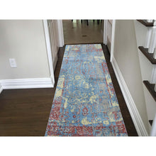 "Load image into Gallery viewer, 2'5""x6'1"" Hand-Knotted Silk With Textured Wool Broken Design Runner Rug FWR248310"