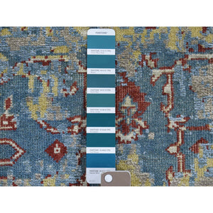 "2'5""x6'1"" Hand-Knotted Silk With Textured Wool Broken Design Runner Rug FWR248310"