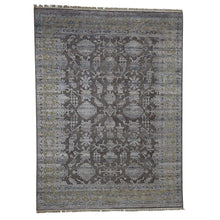 Load image into Gallery viewer, Handmade Wool and Silk Brown Rug