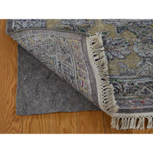 "Load image into Gallery viewer, 8'10""x12' Chocolate Brown Art Silk And Textured Wool Hand-Knotted Oriental Rug FWR248748"