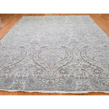 "Load image into Gallery viewer, 9'x12'2"" Mughal Design Pure Silk With Textured Wool Hand-Knotted Oriental Rug FWR248904"