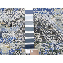 "Load image into Gallery viewer, 2'7""x8'3"" Silk With Textured Wool Hand-Knotted Runner Oriental Rug FWR248940"