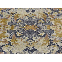 "Load image into Gallery viewer, 6'1""x8'10"" Wool And Silk Abstract Design Hand-Knotted Oriental Rug FWR250770"