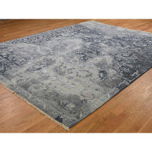"Load image into Gallery viewer, 9'x11'10"" All Over Design Broken Persian Heriz Wool And Silk Hand-Knotted Oriental Rug FWR250992"