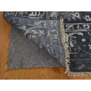 "9'x11'10"" All Over Design Broken Persian Heriz Wool And Silk Hand-Knotted Oriental Rug FWR250992"