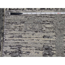 "Load image into Gallery viewer, 2'7""x6' Undyed Natural Wool Hand Spun Yarn Runner Oriental Hand-Knotted Rug FWR252564"