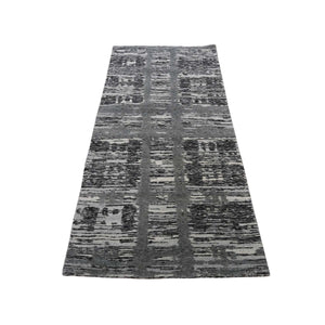 Handmade Modern and Contemporary Grey Rug