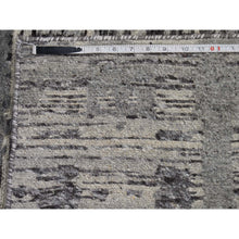 "Load image into Gallery viewer, 2'7""x6' Undyed Natural Wool Hand Spun Yarn Runner Oriental Hand-Knotted Rug FWR252570"