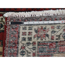 "Load image into Gallery viewer, 3'5""x10'5"" Pure Wool Semi Antique Persian Serab Wide Runner Hand-Knotted Oriental Rug FWR252978"
