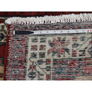 "3'5""x10'5"" Pure Wool Semi Antique Persian Serab Wide Runner Hand-Knotted Oriental Rug FWR252978"