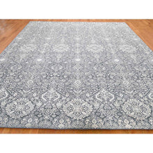"Load image into Gallery viewer, 9'x12'2"" Tone On Tone Silk With Textured Wool Transitional Hand-Knotted Oriental Rug FWR256914"