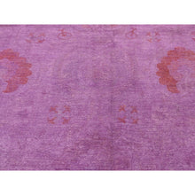 "Load image into Gallery viewer, 9'2""x12' Overdyed Peshawar Hand Knotted Pure Wool Oriental Rug FWR257346"