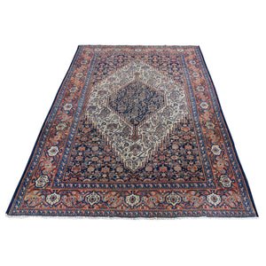 Handmade Antique Blue Rug