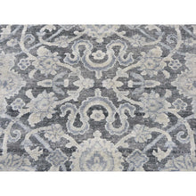 "Load image into Gallery viewer, 9'x11'8"" Pure Silk With Textured Wool Oushak Influence Hand-Knotted Oriental Rug FWR259296"