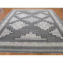 "Load image into Gallery viewer, 8'10""x12' Hand-Knotted Pure Wool Peshawar with Southwestern Motifs Oriental Rug FWR261246"