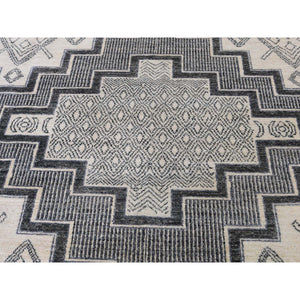 "8'10""x12' Hand-Knotted Pure Wool Peshawar with Southwestern Motifs Oriental Rug FWR261246"
