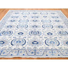 "Load image into Gallery viewer, 8'x9'9"" Arts & Craft Design Vintage Look Pure Wool Hand-Knotted Oriental Rug FWR262062"