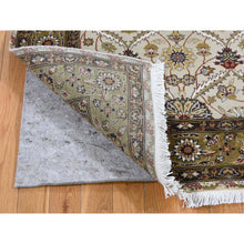 "Load image into Gallery viewer, 3'6""x10'3"" Wool And Silk Hereke Design 300 Kpsi Runner Hand-Knotted Oriental Rug FWR262260"