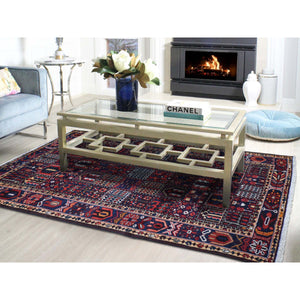 "5'1""x10'2"" Semi Antique Persian Bakhtiari Garden Design Wide Runner Hand-Knotted Oriental Rug FWR262338"