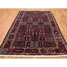 "Load image into Gallery viewer, 5'1""x10'2"" Semi Antique Persian Bakhtiari Garden Design Wide Runner Hand-Knotted Oriental Rug FWR262338"