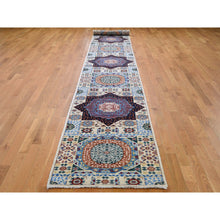 "Load image into Gallery viewer, 2'8""x17'2"" Peshawar with Mamluk Design Runner Hand-Knotted Oriental Rug FWR262746"