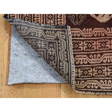"Load image into Gallery viewer, 4'1""x6'9"" Pure Wool Afghan Baluch Washed Out Color With Birds Hand-Knotted Oriental Rug FWR263700"