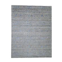 Load image into Gallery viewer, Handmade Wool and Silk Grey Rug