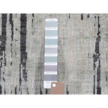 "Load image into Gallery viewer, 2'7""x8' THE CANE Pure Silk With Textured Wool Hand-Knotted Runner Oriental Rug FWR265476"