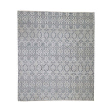 Load image into Gallery viewer, Handmade Ikat And Suzani Design Grey Rug