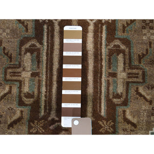 "3'x4'8"" Vintage Afghan Baluch Natural Color Hand-Knotted Pure Wool Oriental Rug FWR266184"