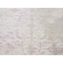 "Load image into Gallery viewer, 9'x12'3"" Wool And Silk With Touch Of Pink Hand-Knotted Oriental Rug FWR266358"
