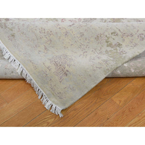 "12'x15'6"" Oversize Wool And Silk With Touch Of Pink Hand-Knotted Oriental Rug FWR266406"