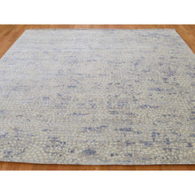 "Load image into Gallery viewer, 8'x9'8"" Wool And Silk Mosaic Design Hand Knotted Oriental Rug FWR266424"