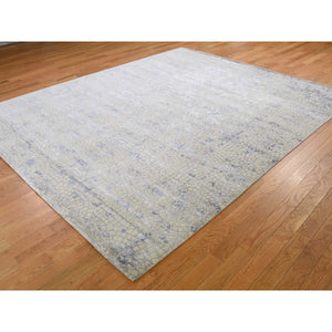 "8'x9'8"" Wool And Silk Mosaic Design Hand Knotted Oriental Rug FWR266424"