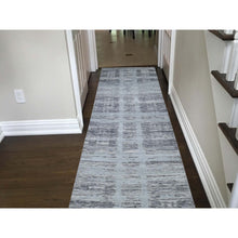"Load image into Gallery viewer, 2'6""x12' Undyed Natural Wool Hand Spun Yarn Runner Oriental Hand-Knotted Rug FWR266478"