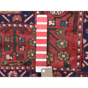 "3'6""x4'10"" Vintage Persian Nahavand Sampler Pure Wool Hand-Knotted Oriental Rug FWR266730"