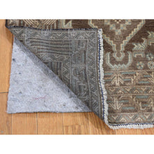 "Load image into Gallery viewer, 2'8""x4'2"" Vintage Afghan Baluch Natural Colors Hand-Knotted Pure Wool Oriental Rug FWR266988"