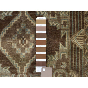 "2'8""x4'2"" Vintage Afghan Baluch Natural Colors Hand-Knotted Pure Wool Oriental Rug FWR266988"