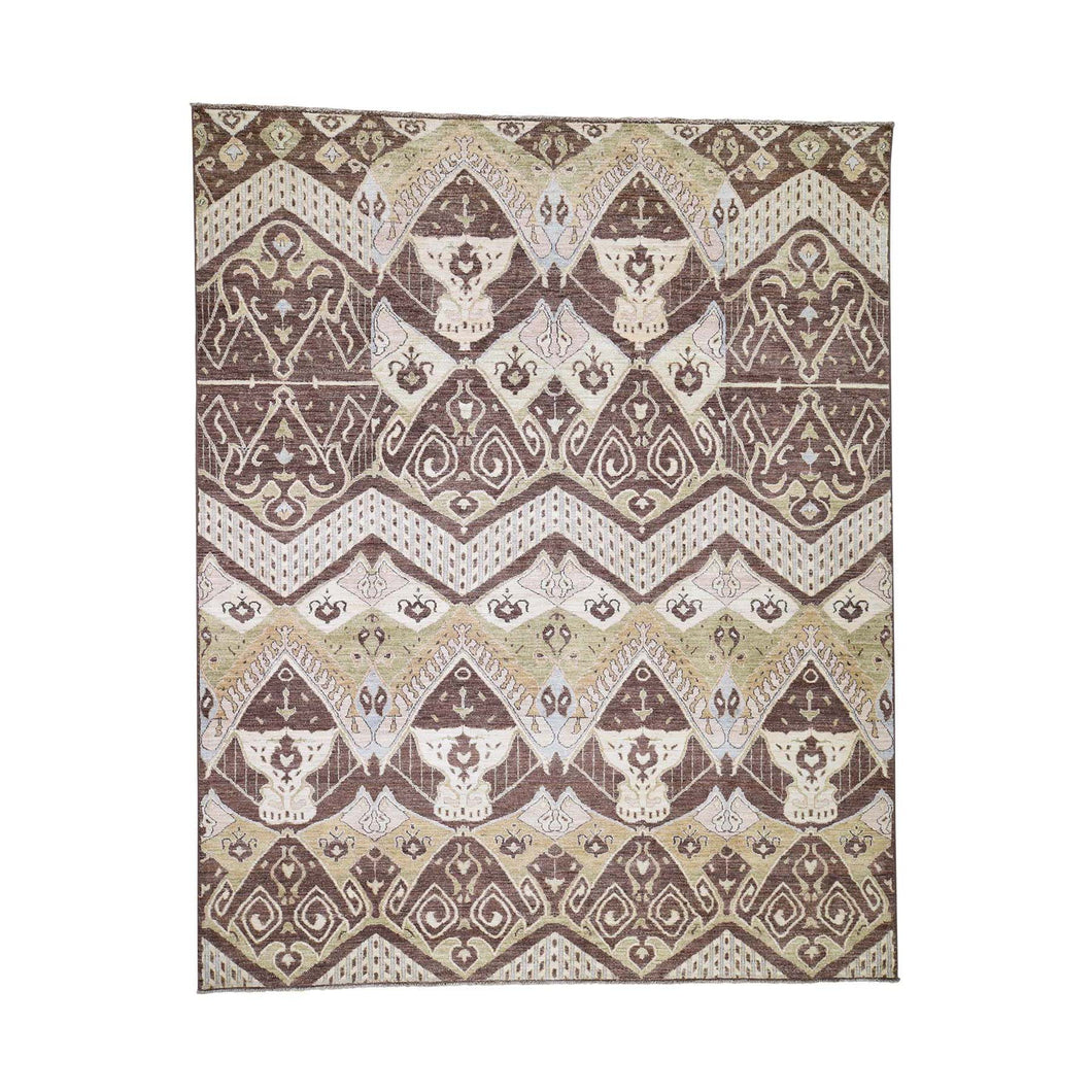Handmade Clearance Brown Rug